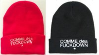 Wholesale K Beanie - new hats for hiphop bigbang g-dragon comme des fu*k down embroidered skull beanie winter warm ski cap