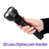 Wholesale Olight Tactical Flashlight - Waterproof Tactical Torch 1200 Lumens 2 Brightness Levels Olight M3X Triton Dual-Output Tailcap Switch CREE XM-L2 LED Flashlight order<$18no