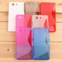 mini envio do caso do tpu venda por atacado-Wholesale Hot S Linha Flexível Tpu telefone case capa protetora para sony xperia z3 compacto z3 mini m55w frete grátis