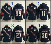 Wholesale Womens Blue Hoodie - Factory Outlet, New Style Womens New York Rangers Hoodie Jerseys #30 Henrik Lundqvist Blue Ice Hockey Hoodie,100% Embroidery Logos,Mixed Ord