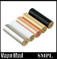Wholesale Cheapest Vape Mods - Cheapest SMPL Mod Clone 5 Colors Copper Mechanical Vape Mod 510 Thread vs 4NINE Apollo Notorious Kryptonite fit 22mm RDA Atomizers DHL Free