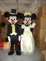 Wholesale Popular Mascot Mouse - Factory Outlets new arrive popular Wedding Minnie and mickey Mouse Halloween Fancy Dress Cartoon Adult Animal Mascot Costume free shipping