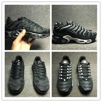 Wholesale Basketball Shoes Tn - 2017 Hot Sale 2018 High Quality TN Running Shoes black On The Flat Bottom Cushion Shoes Men Helped Breathable Light Running Shoes 40-46