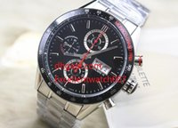 Wholesale calibre 16 black dial - Factory Maker watch men 16 CV2A1R Tag Watch Calibre Men Black Dial Chronograph high quality Mens Watch Watches hot sale