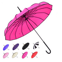 Wholesale Big Advertising - Hot sale women Big large long handle black and white gothic classical home decoration windproof cool tower pagoda umbrella