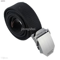 Wholesale Military Style Web Belt - Wholesale-Womdee Men Extra Long Military Style Canvas Web Belt with Buckle