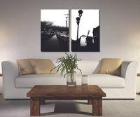 холст окон оптовых-2 шт. бесплатный корабль украшения дома краска на холсте Печать Бруклинский мост уличный фонарь ветряная мельница Гувер плотина мультфильм окно каменные столбы дом