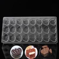 formas de chocolate moldes venda por atacado-Novo Design de Cozinha Ferramentas de Pastelaria Bakeware Moldes de Chocolate de Plástico, Forma de Assadeira de Policarbonato por atacado