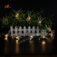 Wholesale Flying House - Wholesale- New Spring 3D Transparent Flying Kingfisher 10 LED String Lights Colorful Flash Bulb Battery Operated Garden Outdoor House Decor