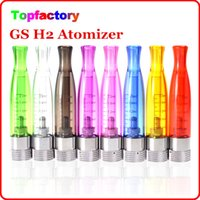 Wholesale E Cigarette New Atomizers - New GS-H2 Clearomizer atomizer E-Cigarette GS H2 Atomizer Replace CE4 Cartomizer all For eGo 510 batter series 7 colors DHL Free