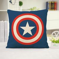 Wholesale batman pillow cases for sale - Group buy Superhero Pillow Case Cartoon Pillow Case Superman Batman Captain America Cushion Cover Cotton Linen Pillow Cover Home Textiles Xmas Gift