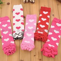 Wholesale Love Leggings Hot - Christmas hot sale Baby socks jacket children cute love lace Leg Warmers kids leggings adult arm warmer jacket Baby Socks 24pcs=12pairs
