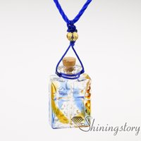 Wholesale vintage perfume bottle pendant resale online - perfume sample vials perfume vial necklace diy essential oil diffuser necklace vintage perfume bottle necklace diffusers