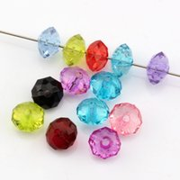 Wholesale Acrylic Faceted Beads - Hot ! 500pcs 6mm Mix Color Acrylic Transparent Faceted Spacer Beads