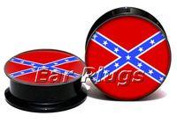 Wholesale Acrylic Screw Ear - Wholesale acrylic screw fit ear gauges confederate flag ear plug gauges flesh tunnel plugs ear expander ASP0775