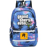 Wholesale Auto City - Vice city backpack Grand theft auto school bag GTA daypack Game schoolbag Outdoor rucksack Sport day pack