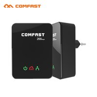 adaptador de puente al por mayor-Comfast UE Homeplug PLC Adaptador 200Mbps Mini Powerline Adaptador de Red / Bridge Adaptador Ethernet Powerline (Paquete Doble)