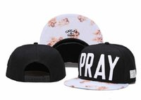 Wholesale Mens Sports Beanies - Cayler & Sons PRAY Snapback Hat Hot Sale Snapbacks Black Snap Back Hats Ball Snap Backs Cap Womens Mens Snapbacks Hip Hip Caps Sports Cap