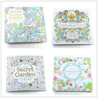 Wholesale Toy Forest - PrettyBaby secret garden coloring book painting drawing book 24 Pages Animal Kingdom Enchanted Forest Relieve Stress For Children Adult