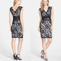 Wholesale Mini Party Dress Black - 2015 high quality sexy women print summer dress Black sleeveless sheath o-neck chiffon lace casual mini dress for girl party