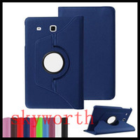 Wholesale Tab3 Magnetic Cover - For Samsung Galaxy Tab S2 T810 S3 T820 Tab E T560 T377 ipad 9.7 2017 Mini5 Leather Case 360 Rotating Magnetic Cover