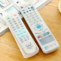 Wholesale Tv Remote Control Protective Case - Wholesale- New Silicone TV Remote Control Cover Air Condition Control Case Waterproof Dust Protective Storage Bag Organizer