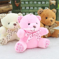 Wholesale Teddy Bear Wedding Decorations - Party Decoration Cute Plush Toys 10cm Bowtie Teddy Bear Wedding Gift Small Pendant A Variety Of Colors Random Delivery 1 Pcs Lot