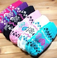 New Arrival Mittens for Women Heart Pattern Design Elegante Girls Winter Warm Gloves Acessórios de moda 5pairs