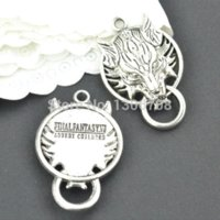 Wholesale Tibetan Coin Jewelry - 10pcs Antique metal tibetan silver charms wolf jewelry connectors for diy necklace bracelet jewelry findings 40*26mm Z42873