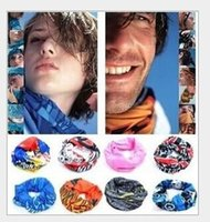 Wholesale Chiffon Kerchiefs - NEWEST Bandanas Headwear Magic Seamless Multi Functional Kerchief Outdoor Head scarf Scarves Face Mesh Bandanas H411