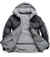 overcoat design toptan satış-LOGO var! Yeni Moda Sıcak satış Yeni Tasarım Erkekler Aşağı Ceket erkek Kış Palto Açık Mont Giyim jaqueta