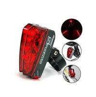 Wholesale safety leds - Waterproof Bicycle Laser Tail Light 2 Lasers + 5 LEDs Bike Safety Red Rear Warning Light Cycling Safety Caution Lamp