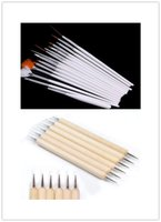Бесплатная доставка 20pc Nail Art Design Painting Detailing Brushes Dotting Pen / Dotter Tool Kit Set
