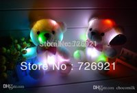 Wholesale Teddy Time Toys - Free Shipping 7 Colors Night Light Voice Recorder & Flashing Teddy Bear Birthday Gift Plush Doll Toy 30s Recording Time
