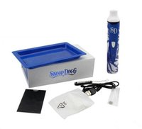 Wholesale Electronic Cigarette Pro Kits - snoop dogg pro Blue And White Porcelain e cig starter herbal dry herb vaporizer kit kits electronic cigarette vapor vape smoke pen ecig