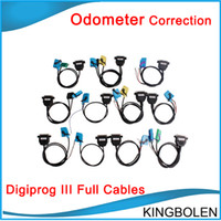 Wholesale digiprog full set - Full Set Cables for Digiprog III Digiprog 3 Odometer Correction Tool Free Shipping In stock