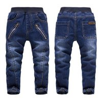 Wholesale High Quality Baby Clothes Wholesale - High Quality Baby Boys Jeans Autumn Children's Washed Zipper Blue Cotton Denim Pants Kids Cowboy Trousers Clothing