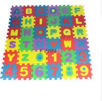 Wholesale Mat Educational Puzzle - Hot Selling! 36pcs set Alphabet Letters Numeral Foam Mat Mini Puzzle Kid Educational Toy Free Shipping