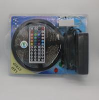 cinta de tira de cadena de led al por mayor-RGB LED Strip Kit DC12V LED luz de la secuencia 5050 SMD Fita Led cinta de cinta de neón para Bar Año Nuevo Decoración de Navidad