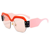 Wholesale United States Big - 2018 New Sunglasses Female Models Sunglasses Europe And The United States Big Glasses Burst Paragraph UV400