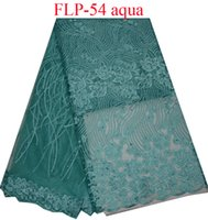 Wholesale Net Swiss Voile Lace - High quality embroidered African swiss voile lace French net lace fabric with beads Free shipping FLP-54