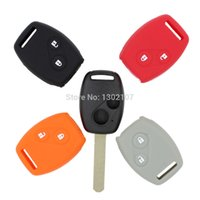 Wholesale Key Fob Remote Cover - New 2 Button Remote Fob Shell Case Car Silicon Key Cover for Honda 2 BT Honda CR-V Fit Pilot Honda Accord Civic Replacement