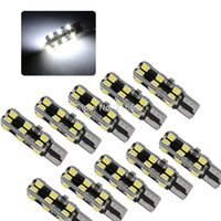Wholesale Smd Led For Car - White Ba9s T10 920 168 24 2835 SMD LED Bulbs For Car indicator instrument clearance marker side signla Parking Lights