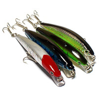 Wholesale Minnows 12cm - S5Q 4x 12cm Barbed Fishing Lures Tackle Hooks Sea Minnow Bait Rattling Jerkbaits AAAAIU