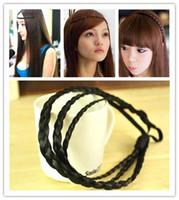 Wholesale Headbands Plait - Retail Fashion Womens Girls Braided Headbands Hair Decor Plait Belt Hairpiece Hair bands Hair Accessories Free shipping 25*2*1cm WH03