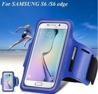 Wholesale Galaxy S4 Holder Belt - Samsung Galaxy S6 Armband Case Holder Pounch Belt Brazalete Deportivo Sport Running Accessories For Samsung Galaxy S3 S4  S5 S6 S6 Edge