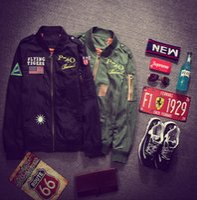 Wholesale Young Mens Winter Jackets - MA1 Bomber Flight jacket tour jackets limit edition young mens hip hop streetwear Warm winter coats