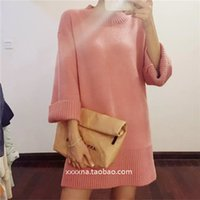 Wholesale Door Cuffs - 2015 new winter Dongguk door purchasing official website of ultra-wide color cuff head long sweater dress