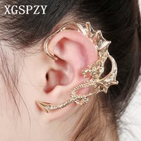 XGSPZY Hot Sell Chinese Dragon Ear Punho Punk Style Curved Earcuffs Unisex Party Jóias Acessórios Presentes Clip Earrings