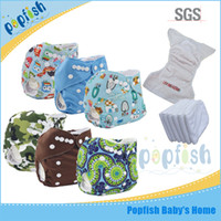 Wholesale Wholesale Baby Diapers Suppliers - China supplier Popfish reusable nappies wholesaler of baby cloth diaper one diaper+one insert fashion baby pants
